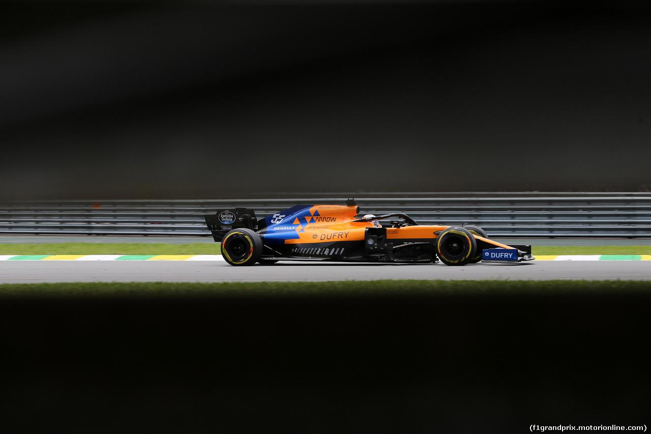 GP BRASILE, 16.11.2019 - Prove Libere 3, Carlos Sainz Jr (ESP) Mclaren F1 Team MCL34