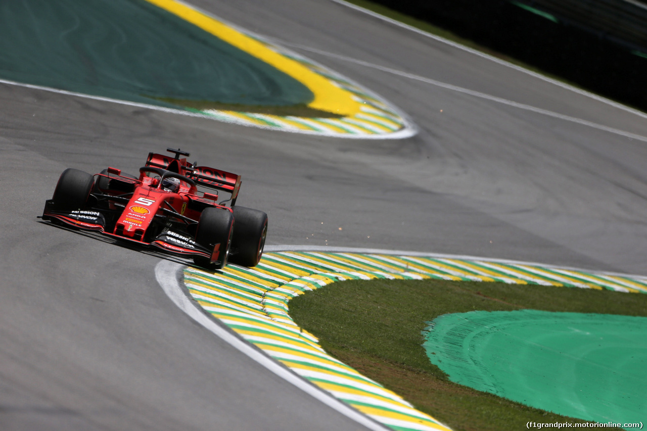 GP BRASILE, 16.11.2019 - Prove Libere 3, Sebastian Vettel (GER) Ferrari SF90