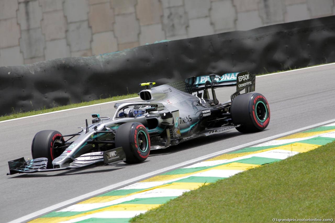 GP BRASILE, 16.11.2019 - Prove Libere 3, Valtteri Bottas (FIN) Mercedes AMG F1 W010