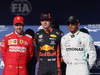 GP BRASILE, 16.11.2019 - Qualifiche, 2nd place Sebastian Vettel (GER) Ferrari SF90, Max Verstappen (NED) Red Bull Racing RB15 pole position e 3rd place Lewis Hamilton (GBR) Mercedes AMG F1 W10
