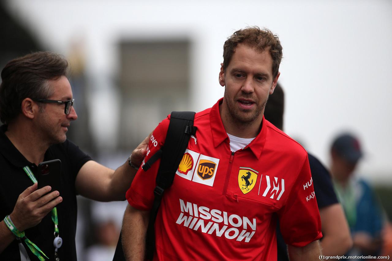 GP BRASILE, 15.11.2019 - Sebastian Vettel (GER) Ferrari SF90