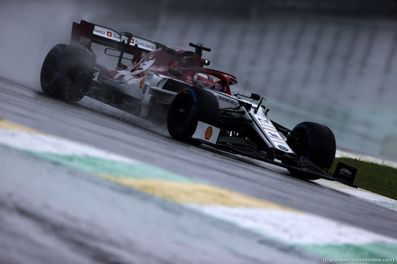 GP BRASILE, 15.11.2019 - Prove Libere 1, Kimi Raikkonen (FIN) Alfa Romeo Racing C38
