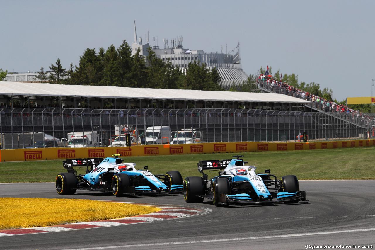 GP CANADA, 09.06.2019 - Gara, George Russell (GBR) Williams Racing FW42 e Robert Kubica (POL) Williams Racing FW42