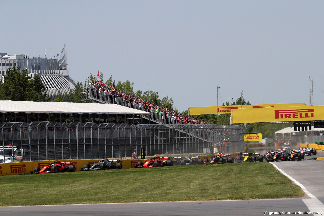 GP CANADA, 09.06.2019 - Gara, Start of the race
