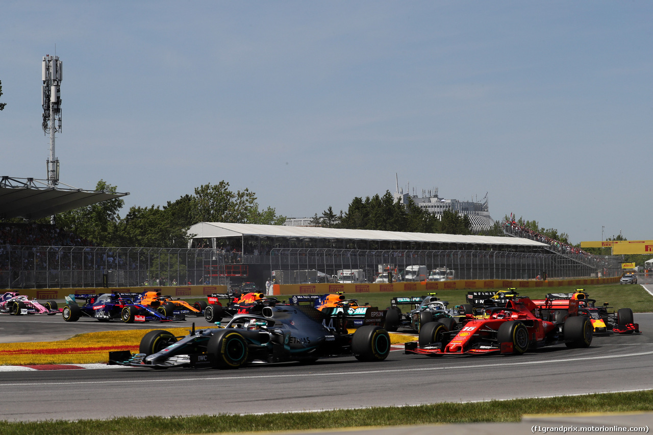 GP CANADA, 09.06.2019 - Gara, Start of the race, Lewis Hamilton (GBR) Mercedes AMG F1 W10