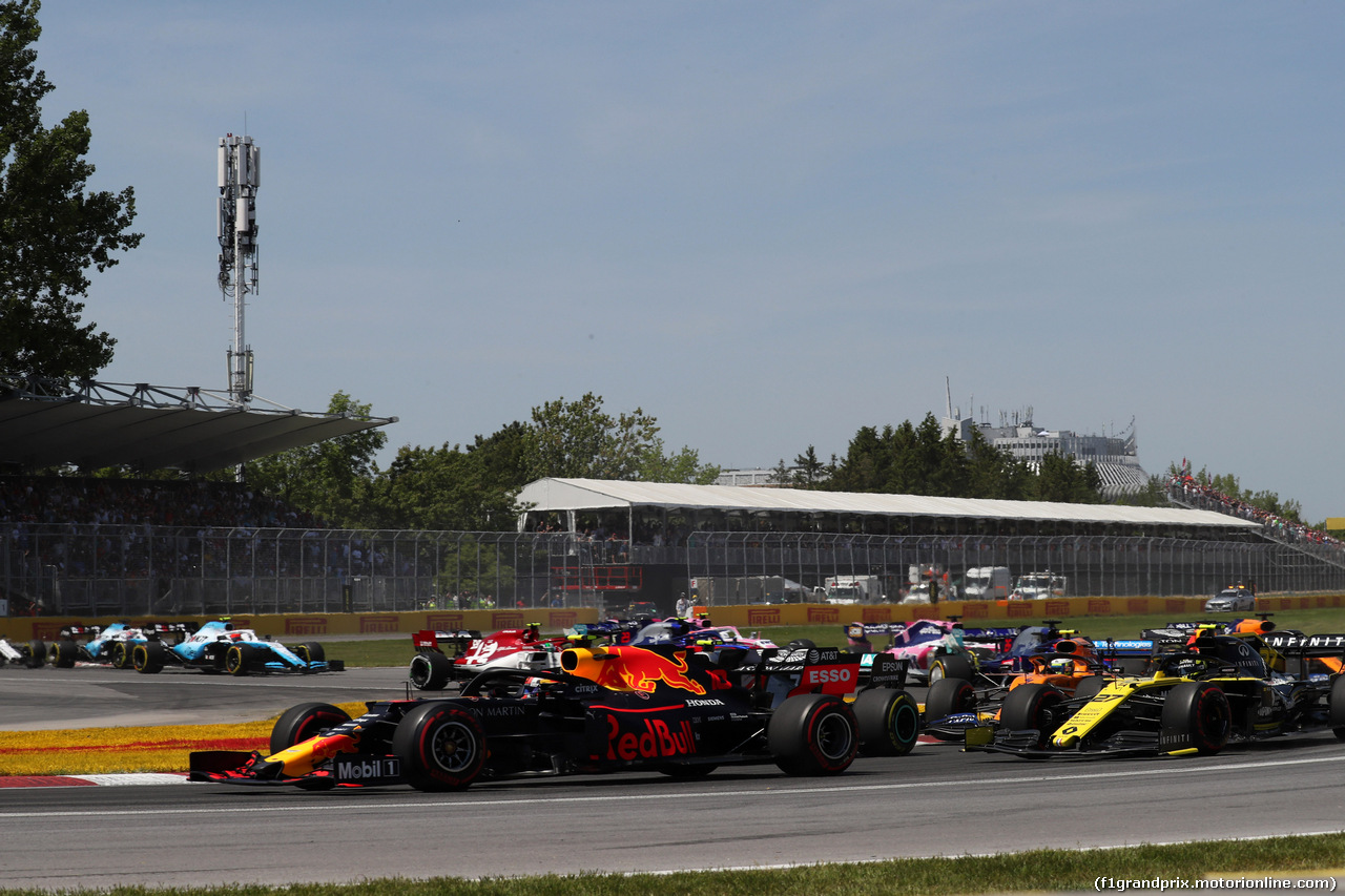 GP CANADA, 09.06.2019 - Gara, Start of the race, Pierre Gasly (FRA) Red Bull Racing RB15