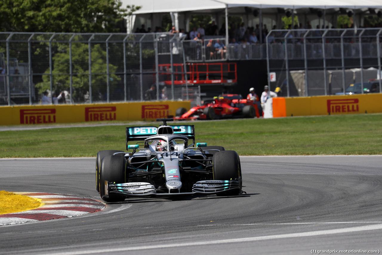GP CANADA, 09.06.2019 - Gara, Lewis Hamilton (GBR) Mercedes AMG F1 W10 e Charles Leclerc (MON) Ferrari SF90