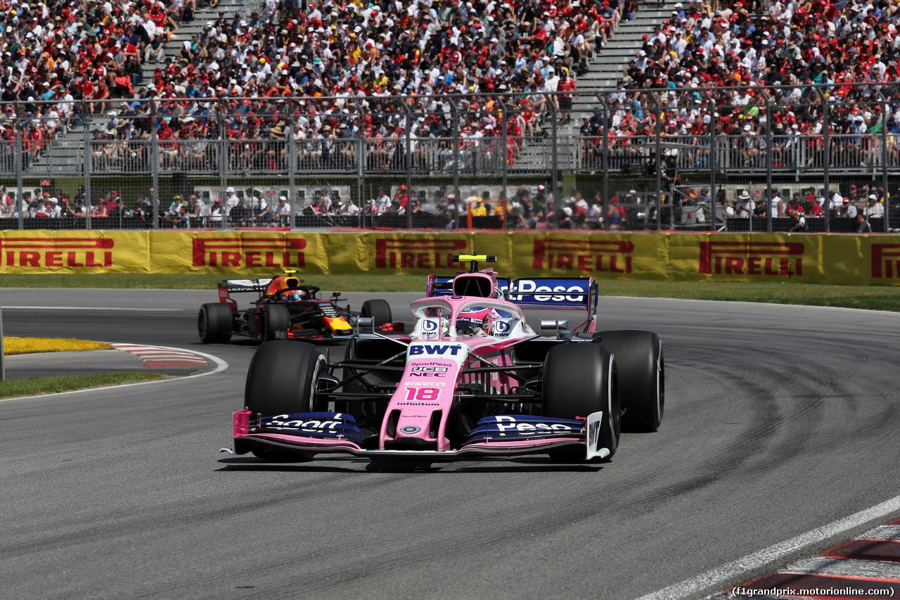GP CANADA, 09.06.2019 - Gara, Lance Stroll (CDN) Racing Point F1 Team RP19 davanti a Pierre Gasly (FRA) Red Bull Racing RB15