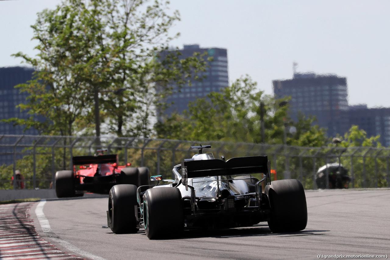 GP CANADA, 09.06.2019 - Gara, Lewis Hamilton (GBR) Mercedes AMG F1 W10 e Sebastian Vettel (GER) Ferrari SF90