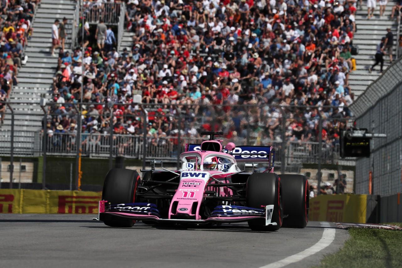 GP CANADA, 07.06.2019 - Prove Libere 2, Sergio Perez (MEX) Racing Point F1 Team RP19