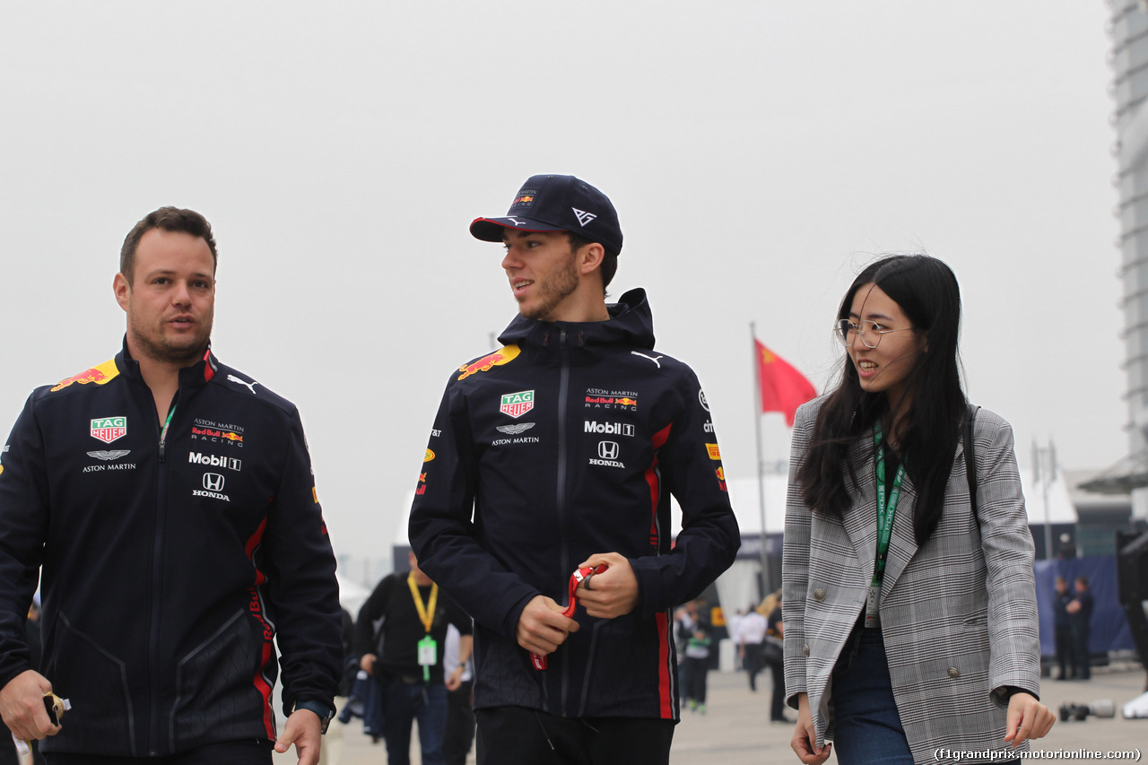 GP CINA, 14.04.2019- Pierre Gasly (FRA) Redbull Racing RB15