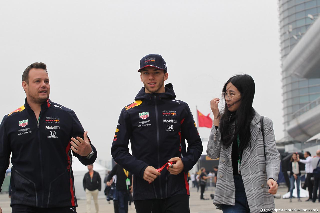 GP CINA, 14.04.2019- Pierre Gasly (FRA) Redbull Racing RB15