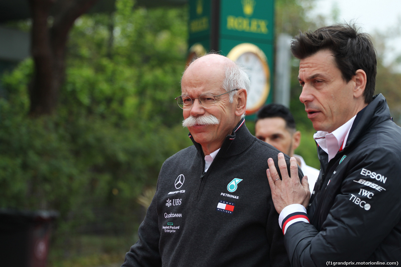 GP CINA, 14.04.2019- Dieter Zetsche (GER) Daimler-Mercedes Group CEO