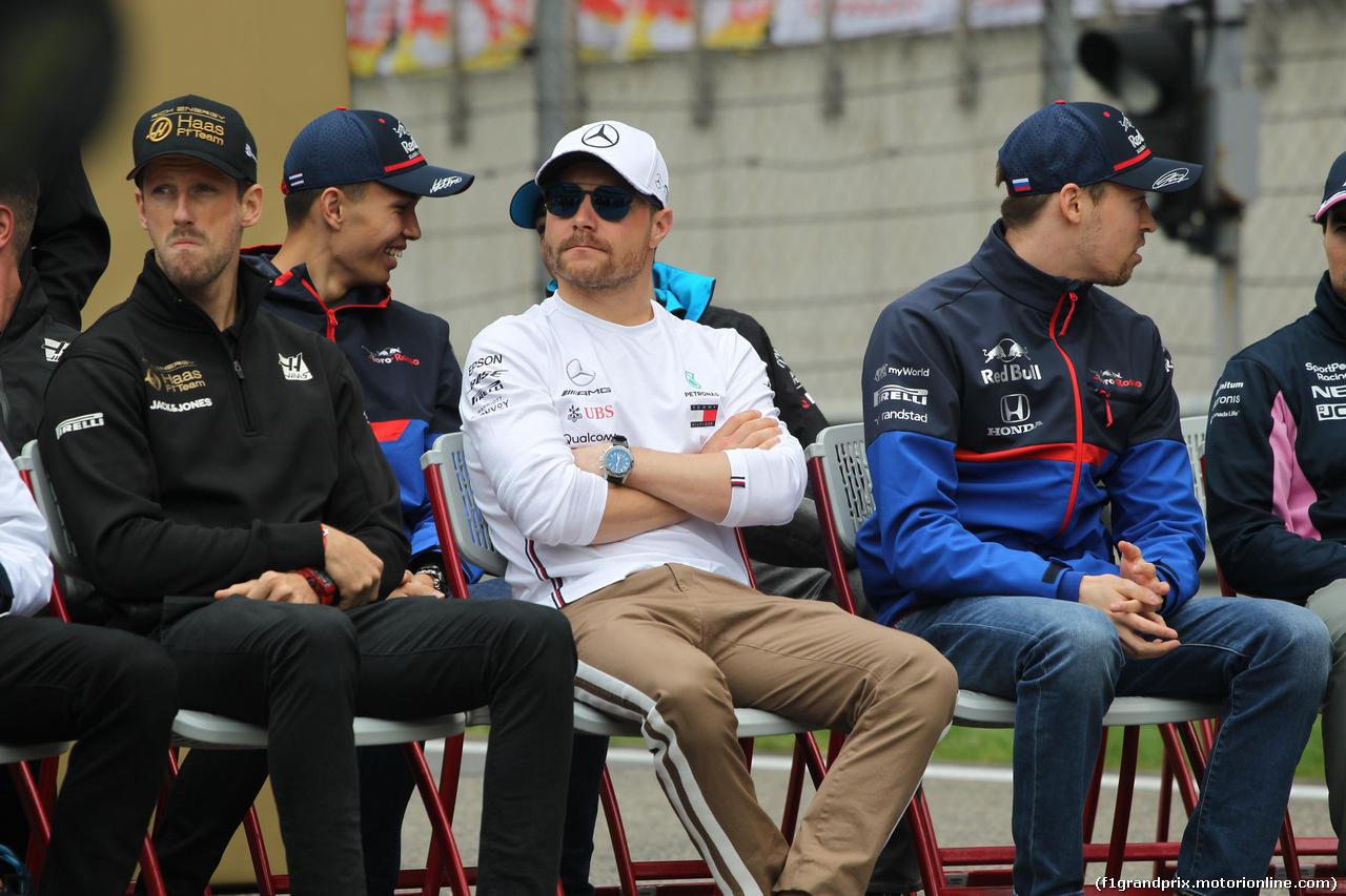 GP CINA, 14.04.2019- driver parade, Valtteri Bottas (FIN) Mercedes AMG F1 W10 EQ Power