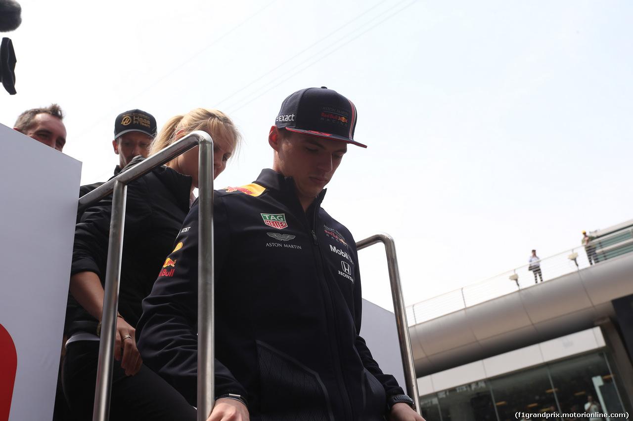 GP CINA, 14.04.2019- driver parade, Max Verstappen (NED) Red Bull Racing RB15