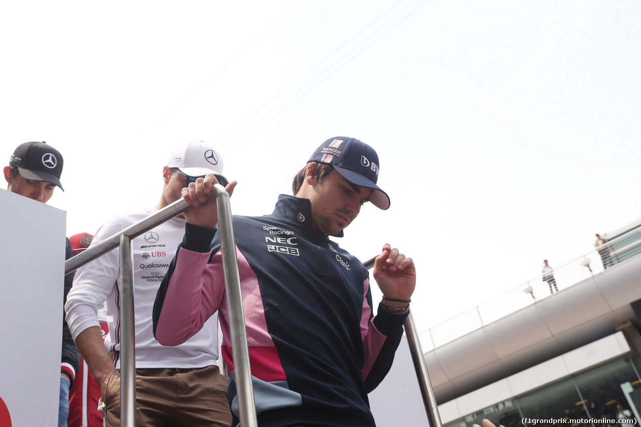 GP CINA, 14.04.2019- driver parade, Lance Stroll (CDN) Racing Point F1 RP19