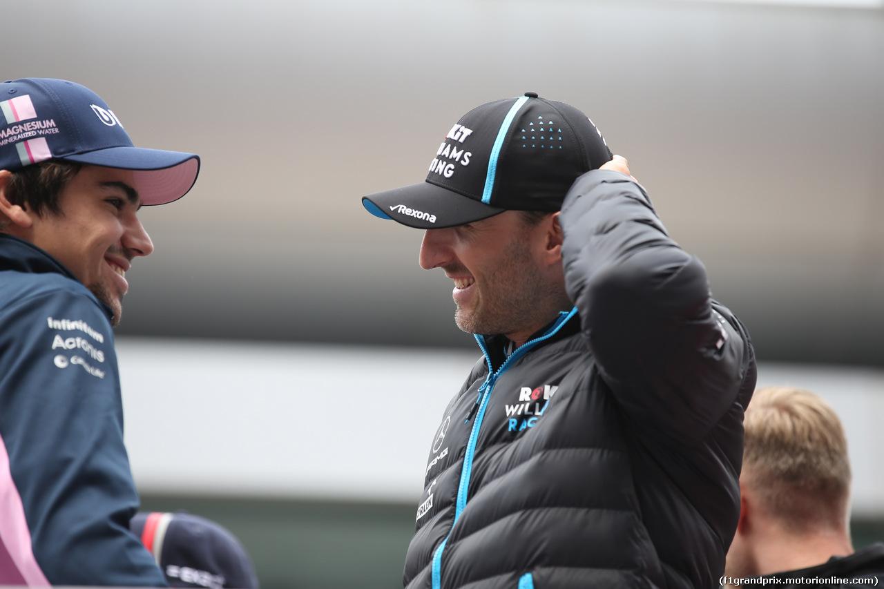 GP CINA, 14.04.2019- driver parade, Lance Stroll (CDN) Racing Point F1 RP19   e Robert Kubica (POL) Williams F1 FW42