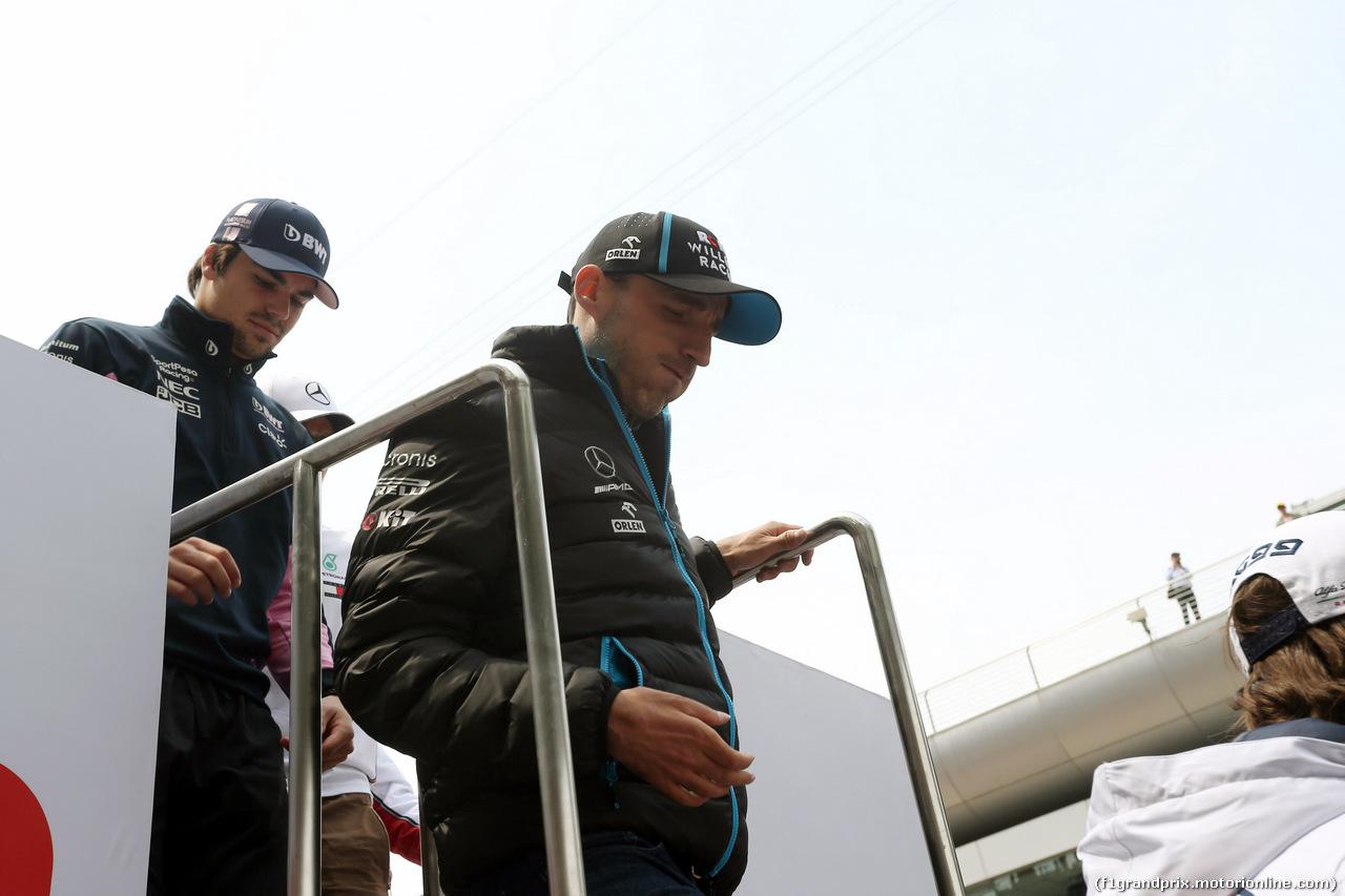 GP CINA, 14.04.2019- driver parade, Robert Kubica (POL) Williams F1 FW42
