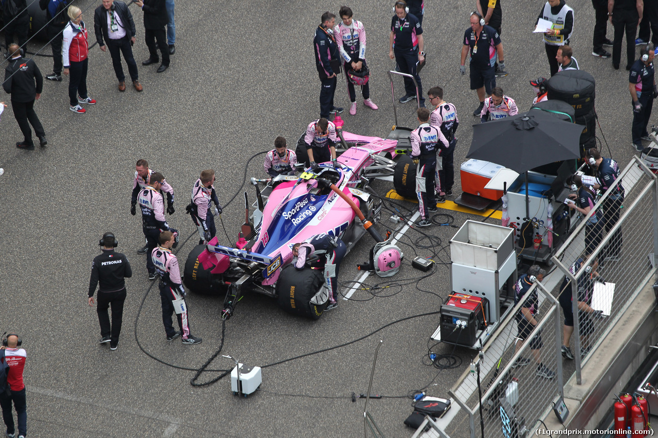 GP CINA, 14.04.2019- partenzaing grid, Lance Stroll (CDN) Racing Point F1 RP19