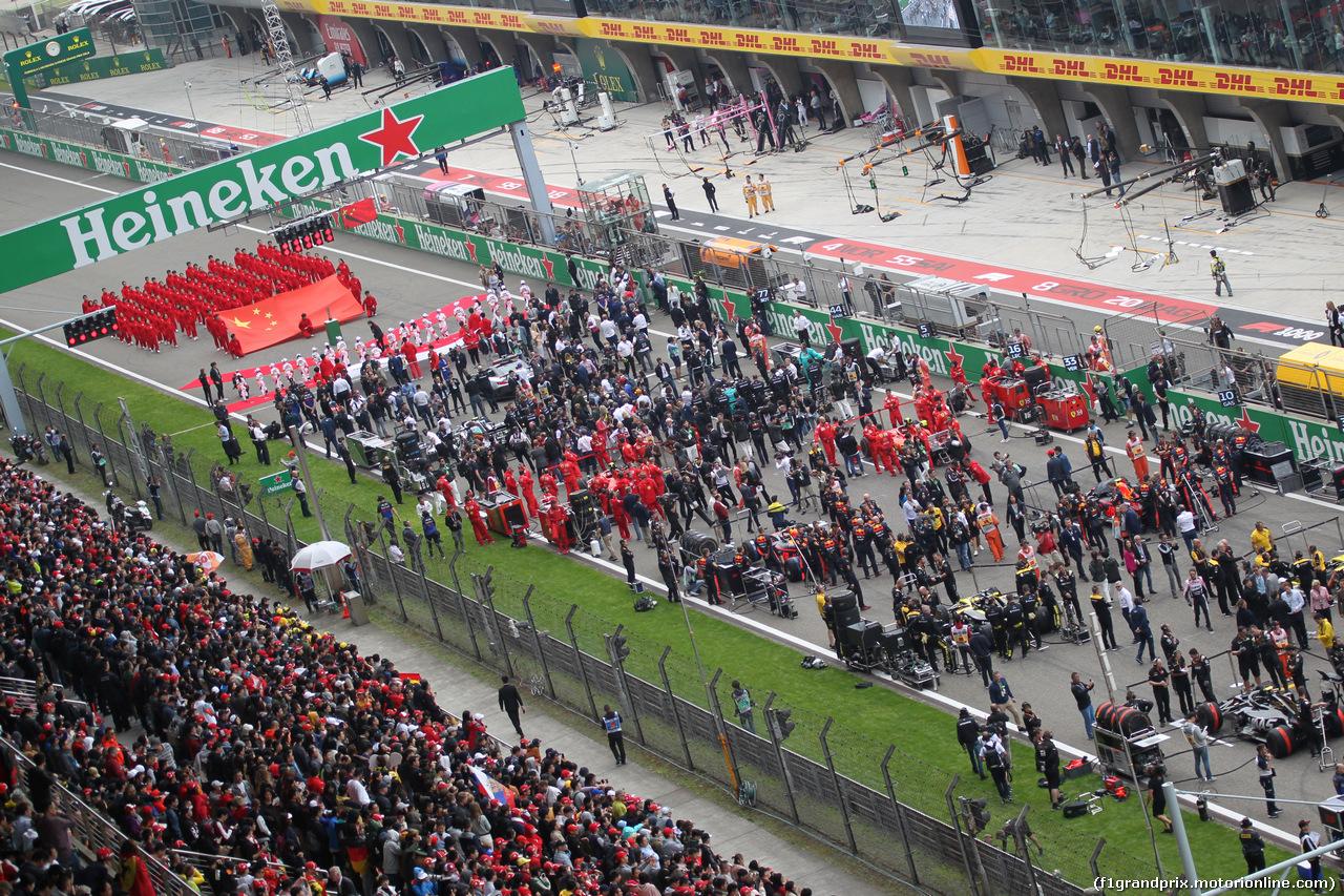 GP CINA, 14.04.2019- partenzaing grid