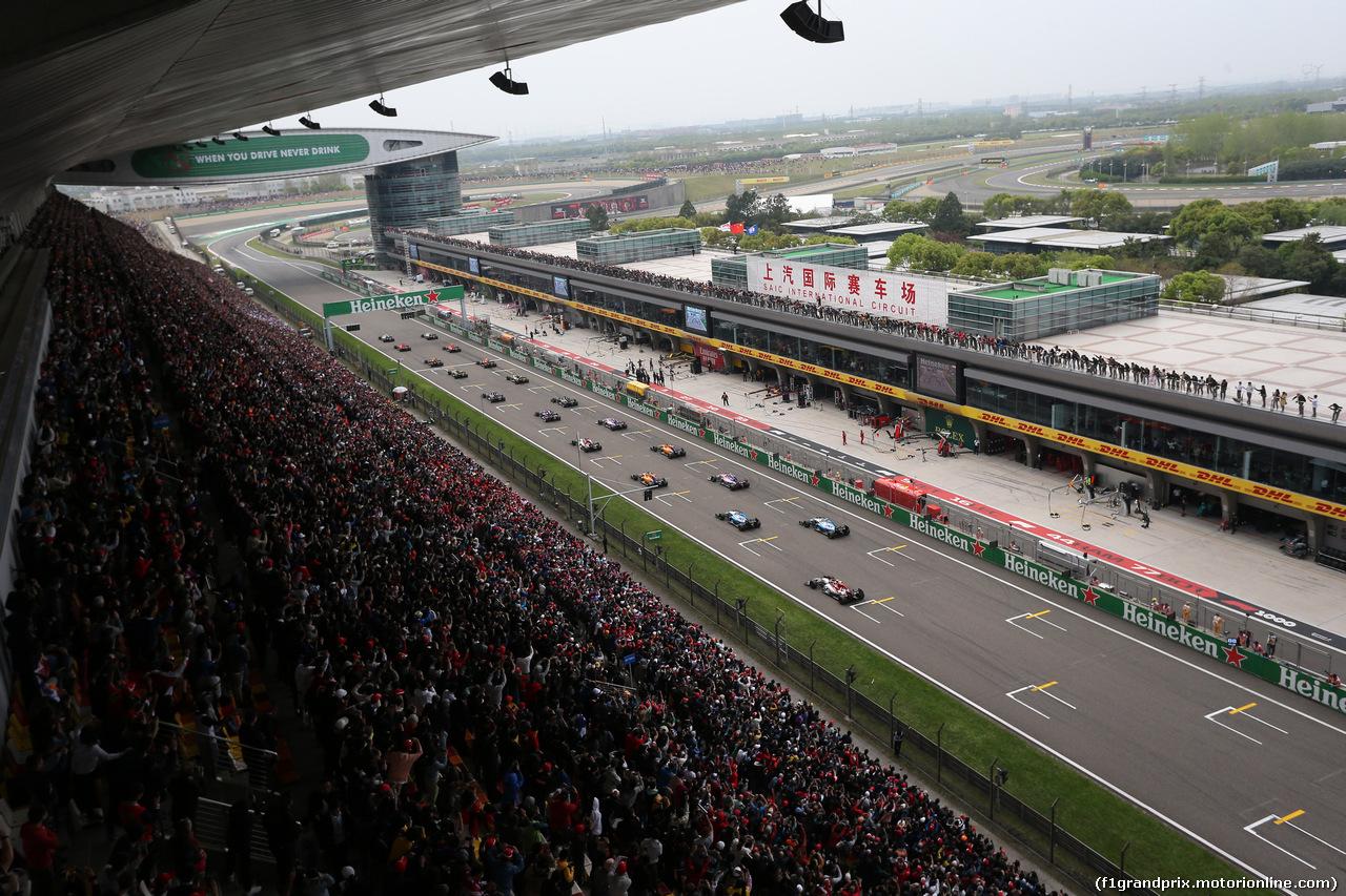 GP CINA, 14.04.2019- Start of the race
