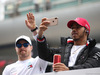 GP CINA, 14.04.2019- driver parade, Lewis Hamilton (GBR) Mercedes AMG F1 W10 EQ Power e Valtteri Bottas (FIN) Mercedes AMG F1 W10 EQ Power
