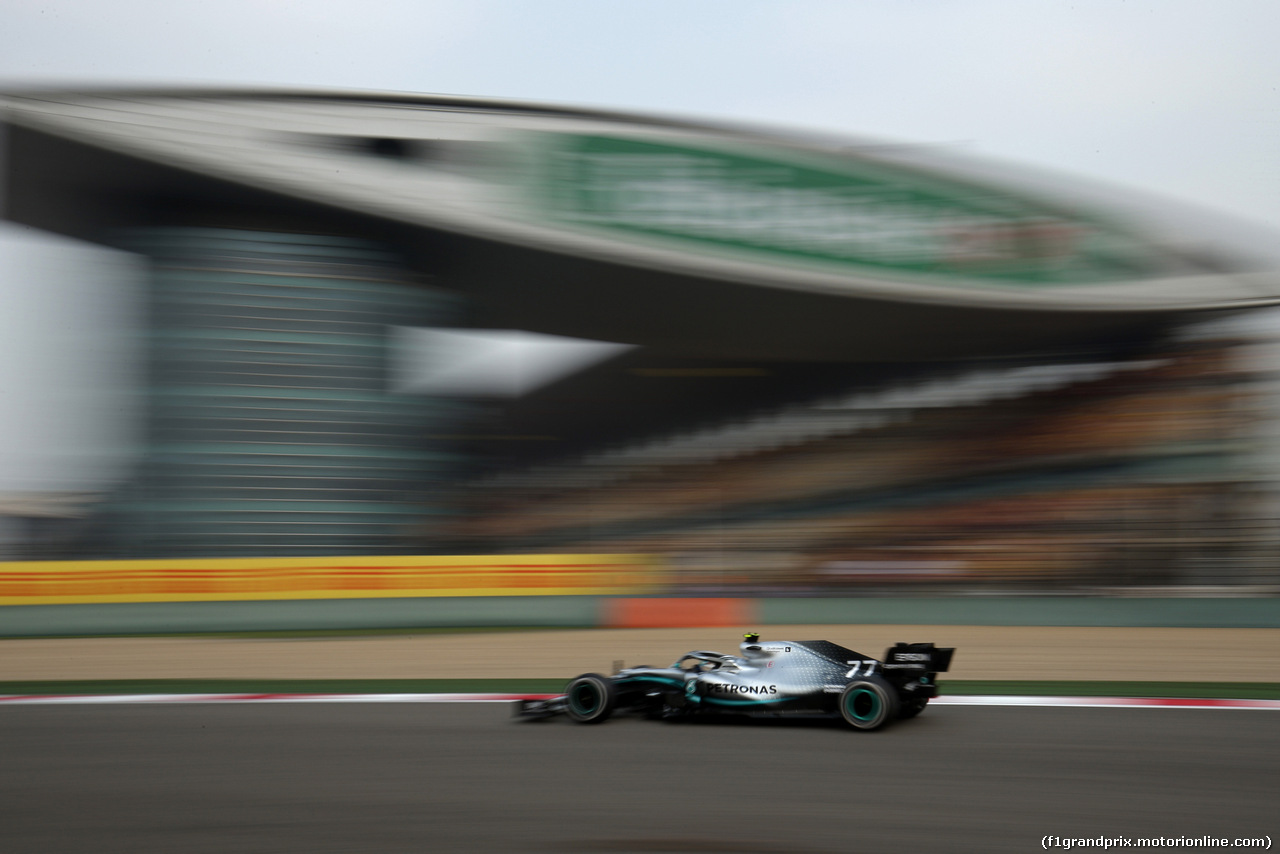 GP CINA, 12.04.2019- Prove Libere 2, Valtteri Bottas (FIN) Mercedes AMG F1 W10 EQ Power