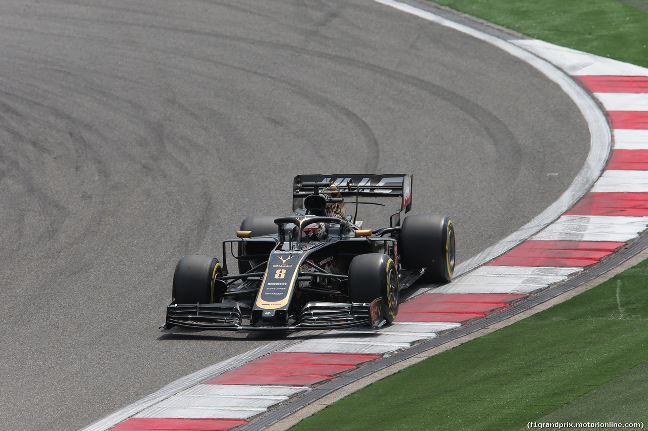 GP CINA, 13.04.2019- Free practice 3, Romain Grosjean (FRA) Haas F1 Team VF-19