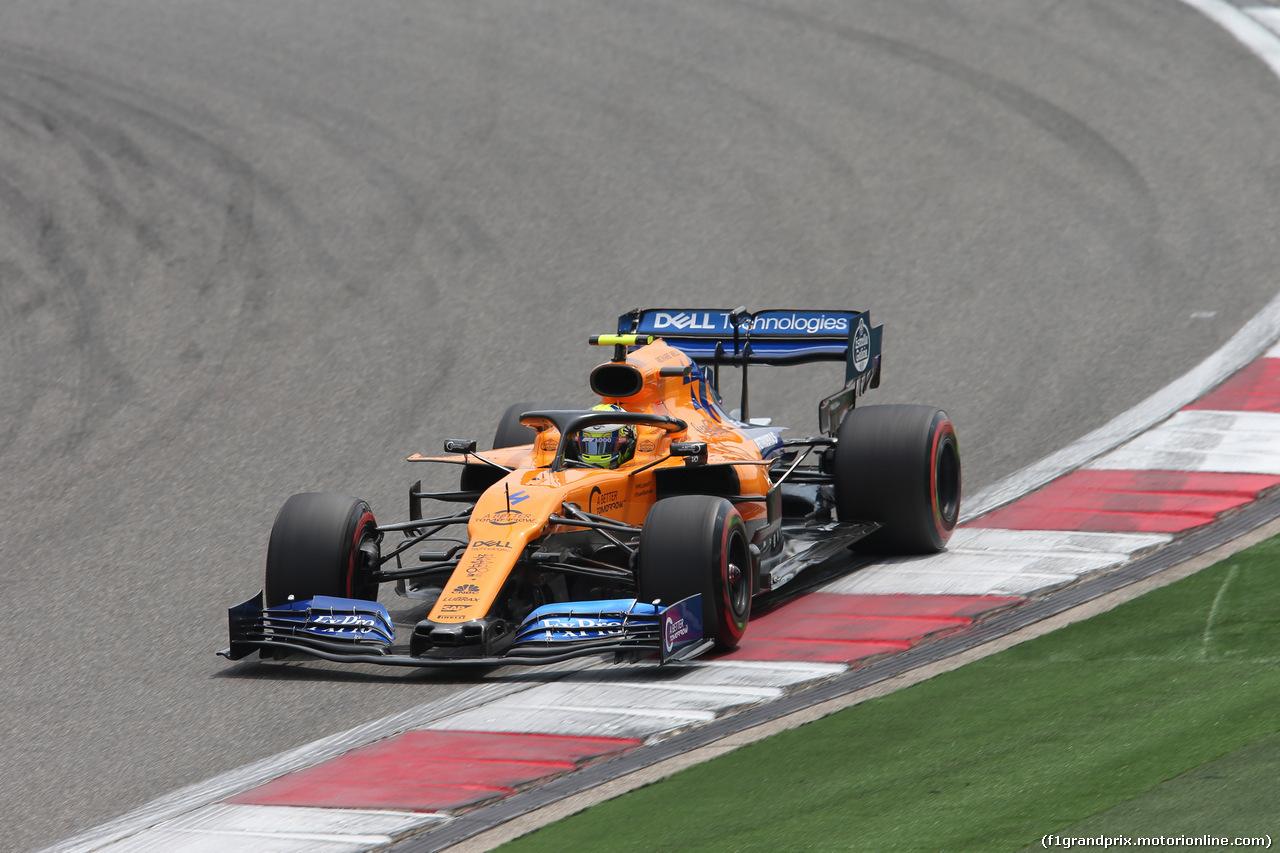 GP CINA, 13.04.2019- Free practice 3, Lando Norris (GBR) Mclaren F1 Team MCL34