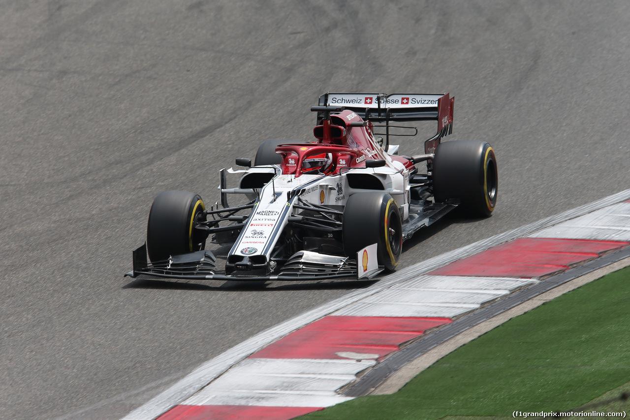 GP CINA, 13.04.2019- Free practice 3, Kimi Raikkonen (FIN) Alfa Romeo Racing C38