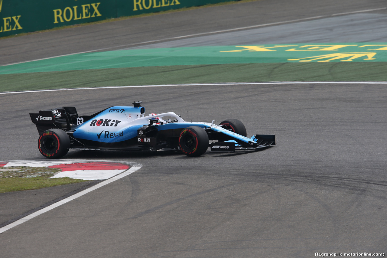 GP CINA, 13.04.2019- Free practice 3, George Russell (GBR) Williams F1 FW42