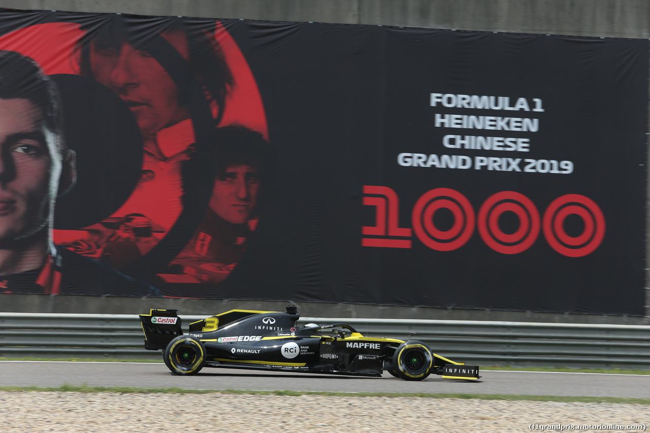 GP CINA, 13.04.2019- Free practice 3, Daniel Ricciardo (AUS) Renault Sport F1 Team RS19