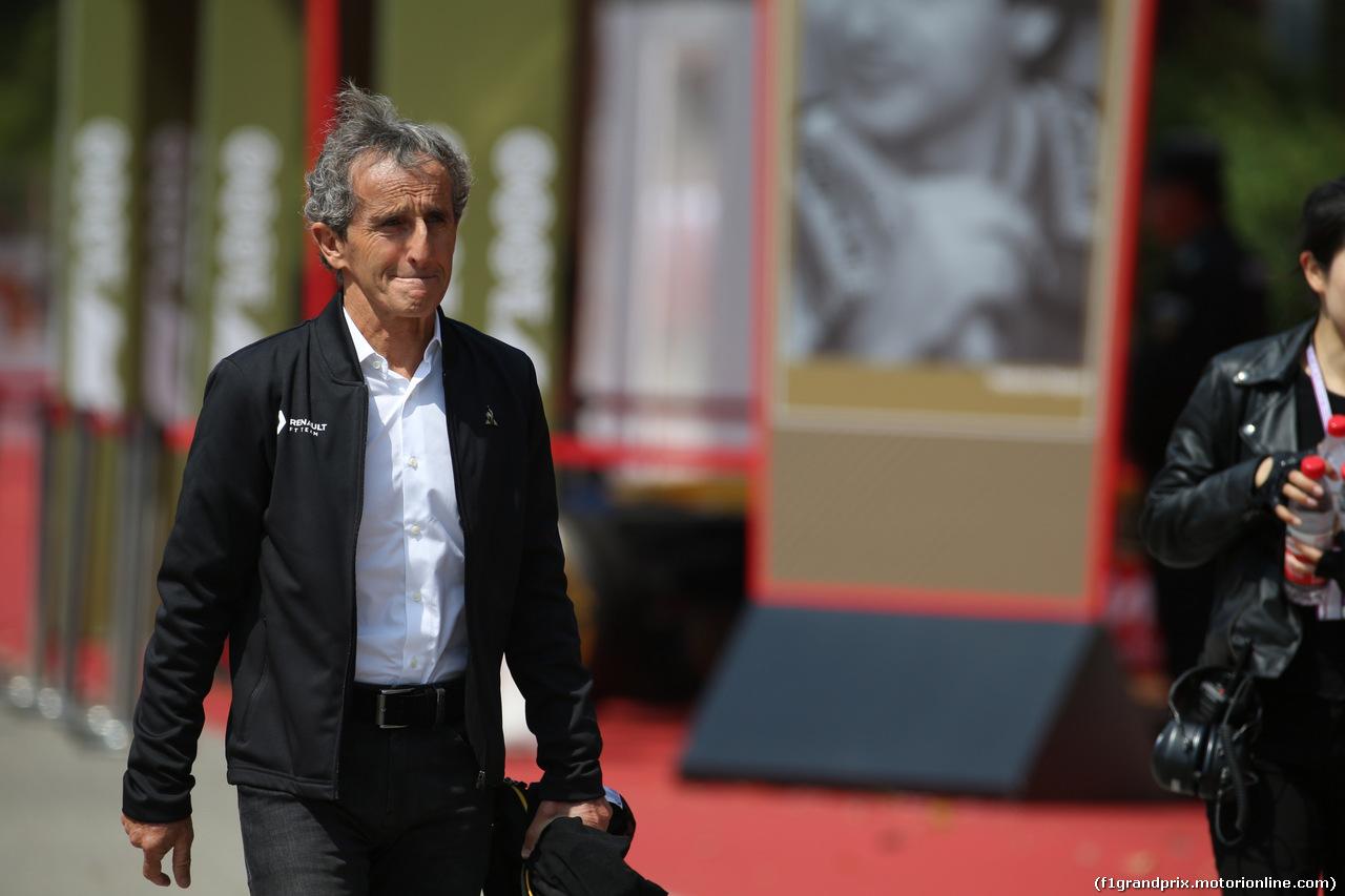 GP CINA, 13.04.2019- Alain Prost (FRA) Renault Sport F1 Team Special Advisor