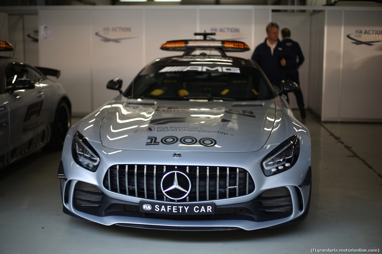 GP CINA, 11.04.2019- The safety car with the 1000 F1 Gp logo