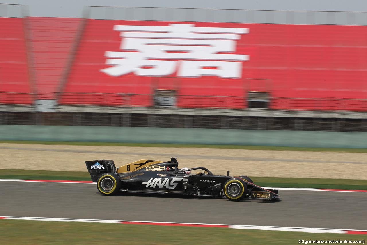 GP CINA, 12.04.2019- Prove Libere 1, Romain Grosjean (FRA) Haas F1 Team VF-19