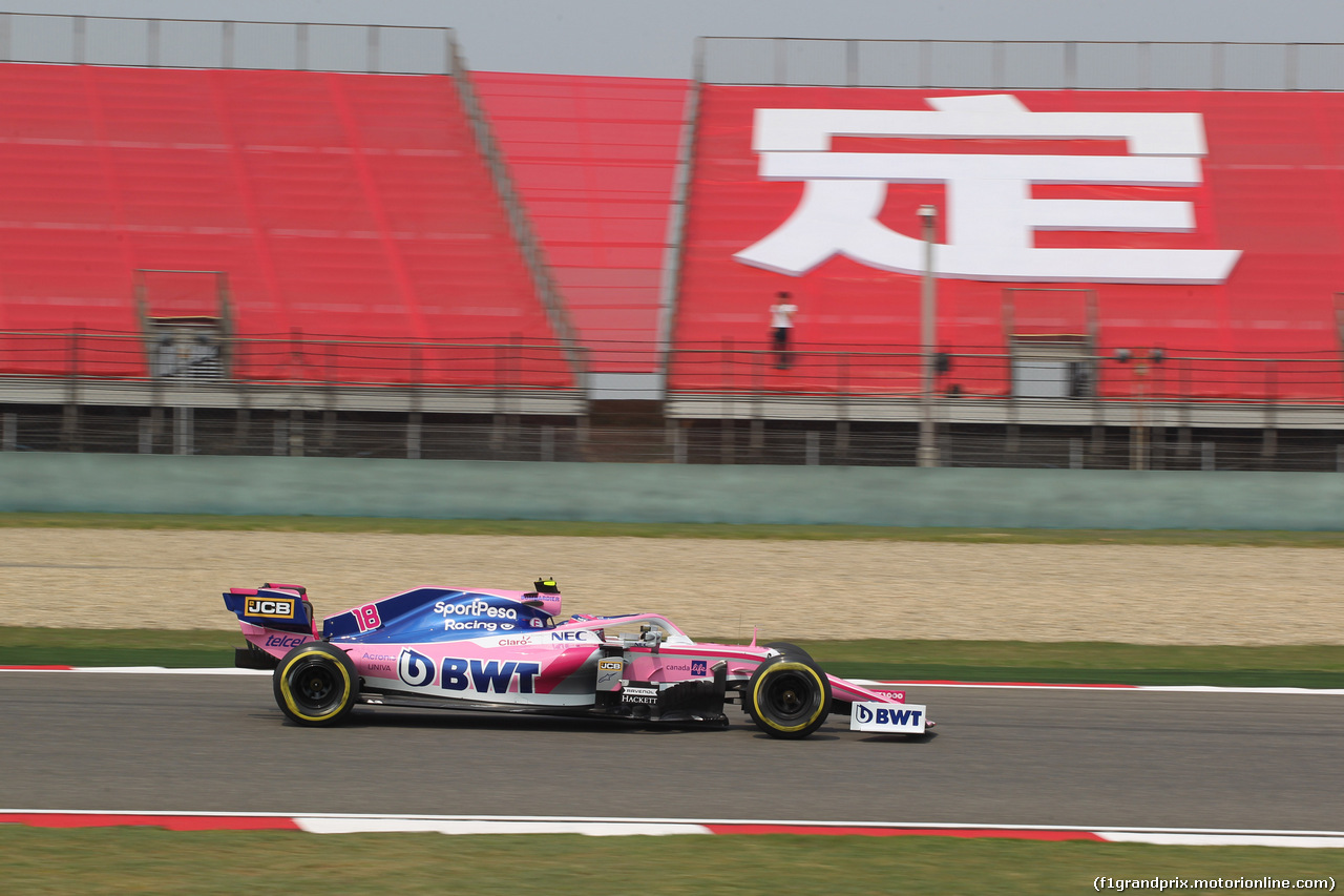 GP CINA, 12.04.2019- Prove Libere 1, Lance Stroll (CDN) Racing Point F1 RP19