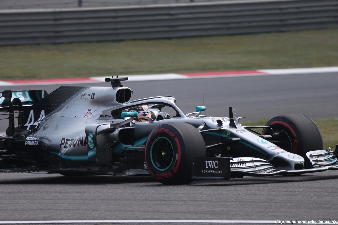 GP CINA, 12.04.2019- Prove Libere 1, Lewis Hamilton (GBR) Mercedes AMG F1 W10 EQ Power