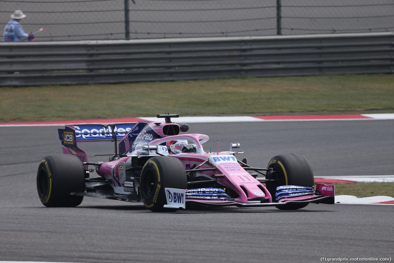 GP CINA, 12.04.2019- Prove Libere 1, Sergio Perez (MEX) Racing Point F1 RP19