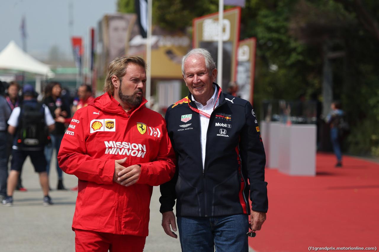 GP CINA, 12.04.2019-  Gino Rosato (CDN) e Helmut Marko (AUT), Red Bull Racing, Red Bull Advisor