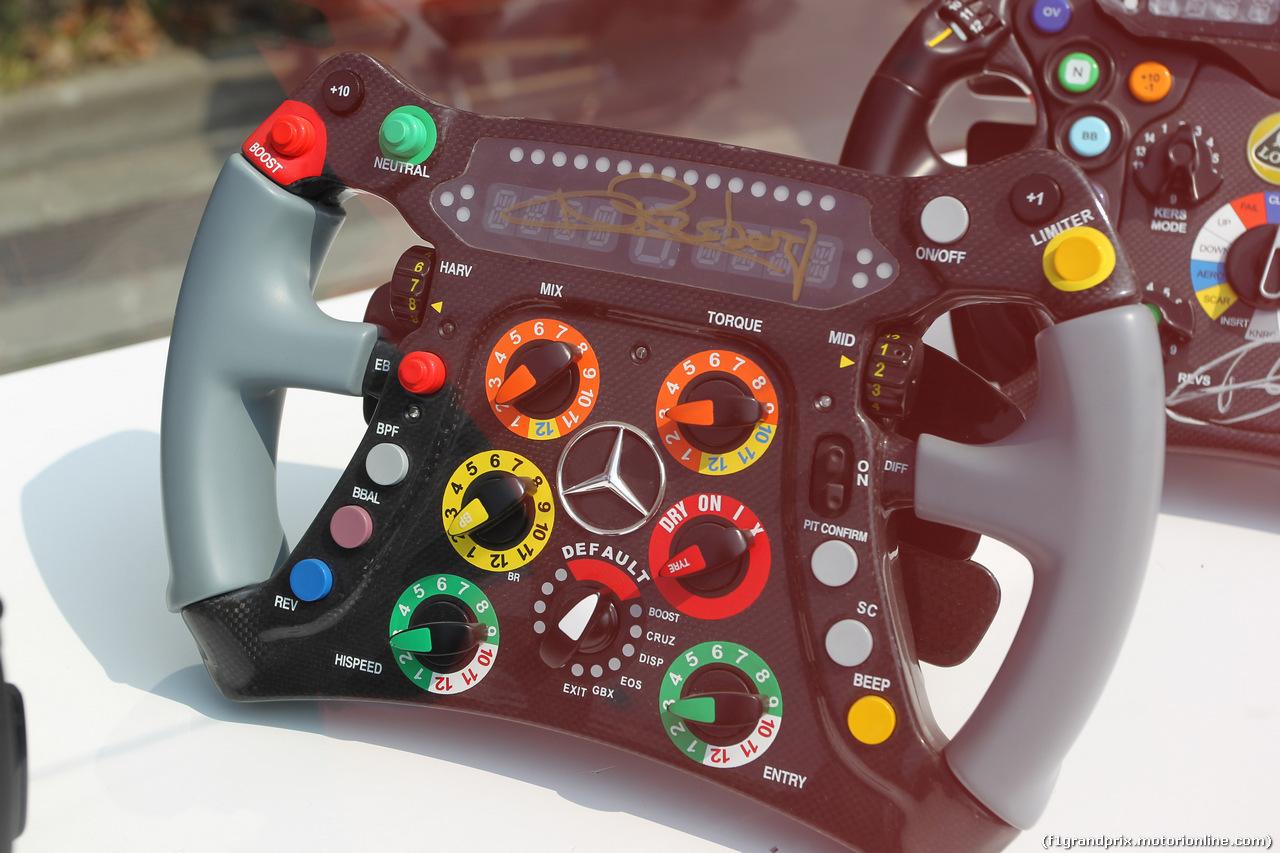 GP CINA, 12.04.2019- Exposition of F1 Steerings wheel