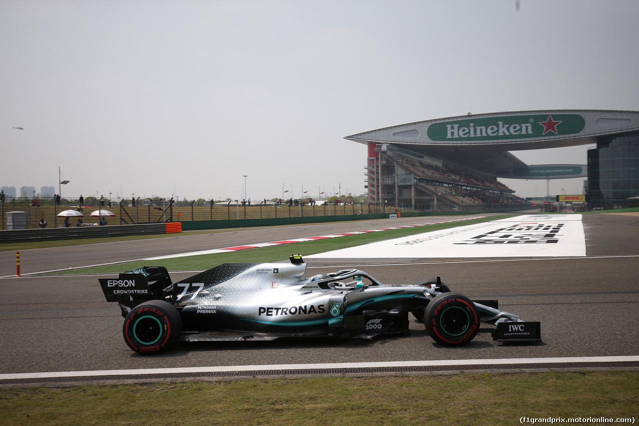 GP CINA, 12.04.2019- Prove Libere 1, Valtteri Bottas (FIN) Mercedes AMG F1 W10 EQ Power