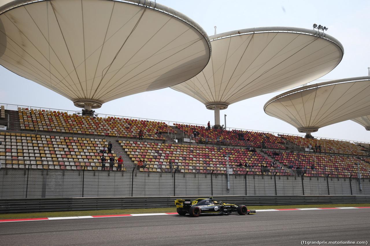 GP CINA, 12.04.2019- Prove Libere 1, Nico Hulkenberg (GER) Renault Sport F1 Team RS19