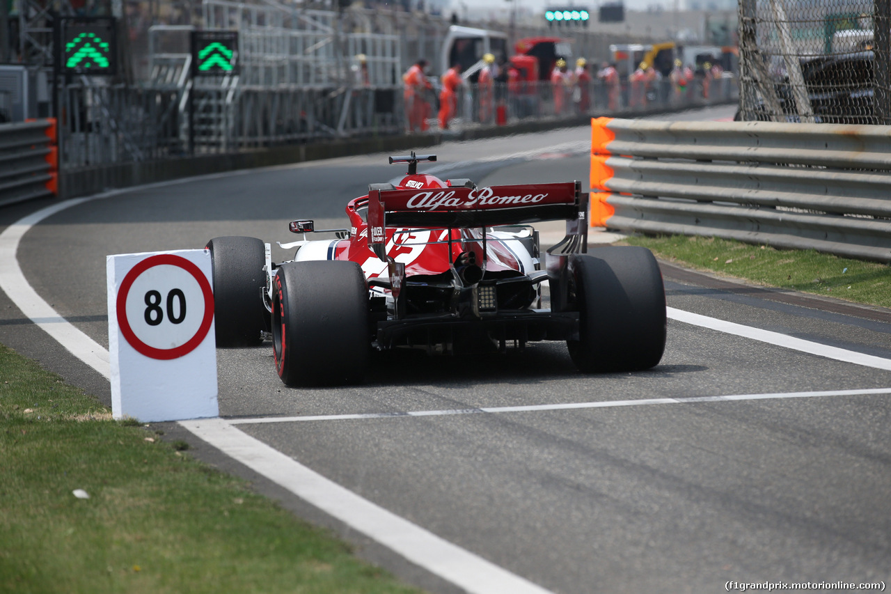 GP CINA, 12.04.2019- Prove Libere 1, Kimi Raikkonen (FIN) Alfa Romeo Racing C38