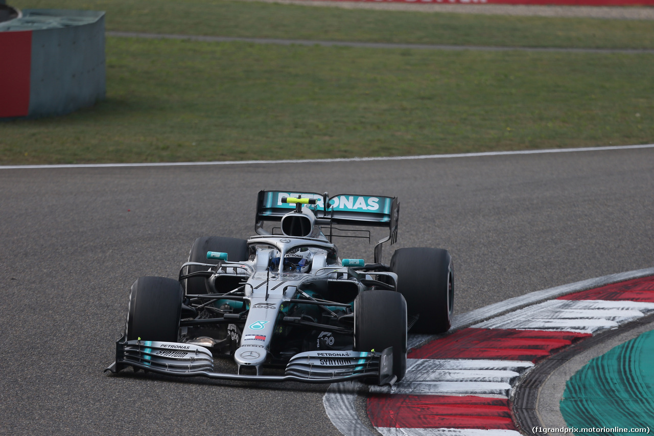 GP CINA, 12.04.2019- Prove Libere 2, Valtteri Bottas (FIN) Mercedes AMG F1 W10 EQ Power