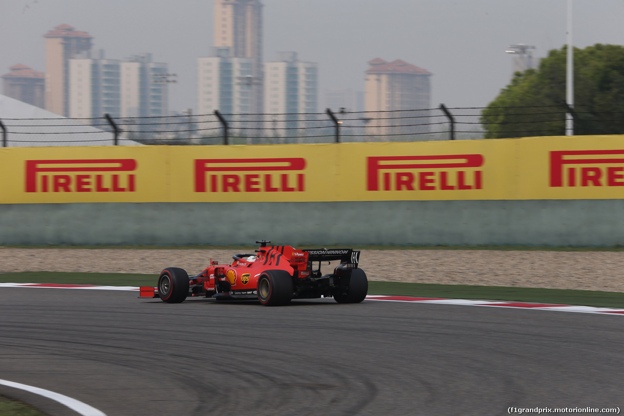 GP CINA, 12.04.2019- Prove Libere 2, Sebastian Vettel (GER) Ferrari SF90