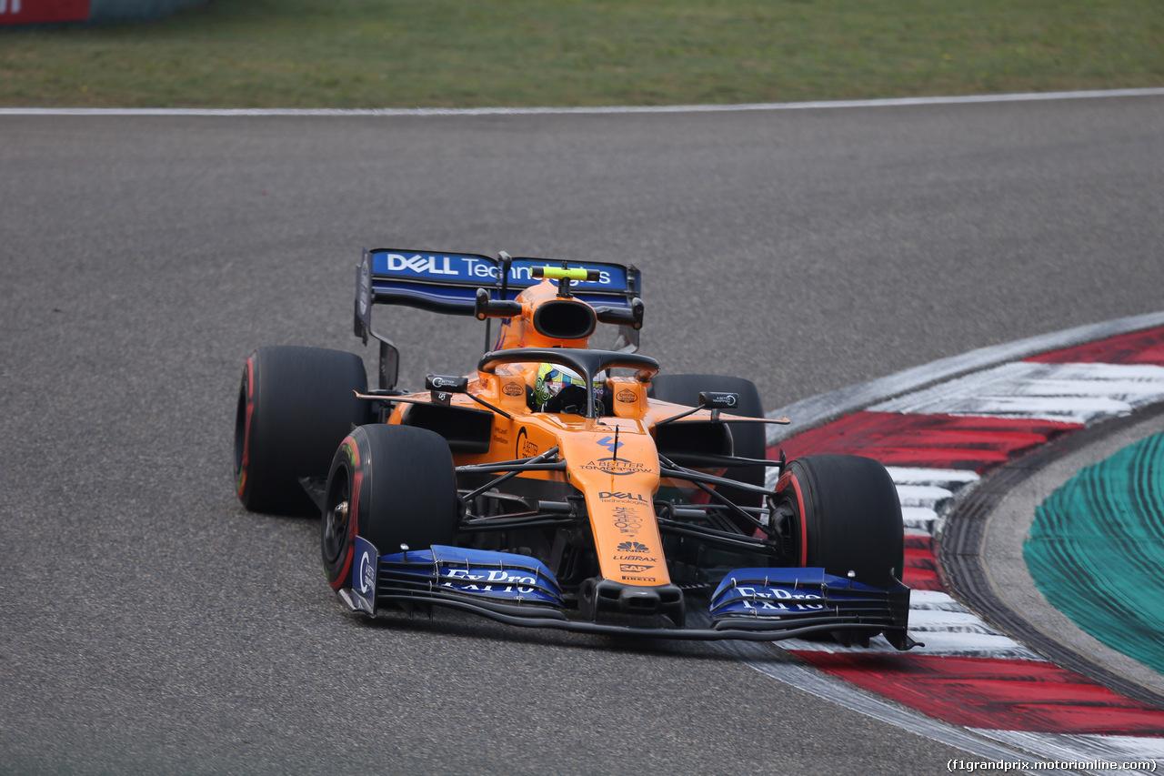 GP CINA, 12.04.2019- Prove Libere 2, Lando Norris (GBR) Mclaren F1 Team MCL34