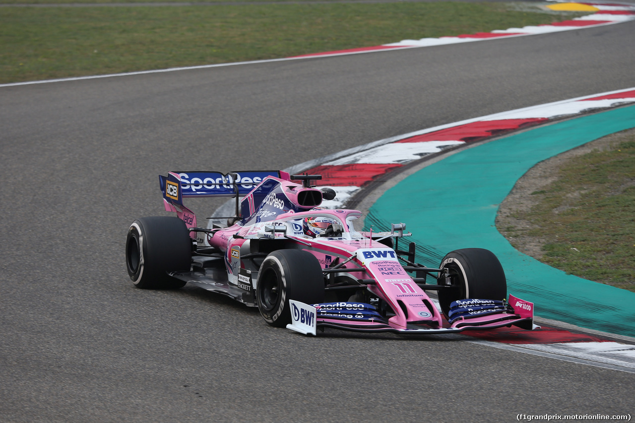 GP CINA, 12.04.2019- Prove Libere 2, Sergio Perez (MEX) Racing Point F1 RP19