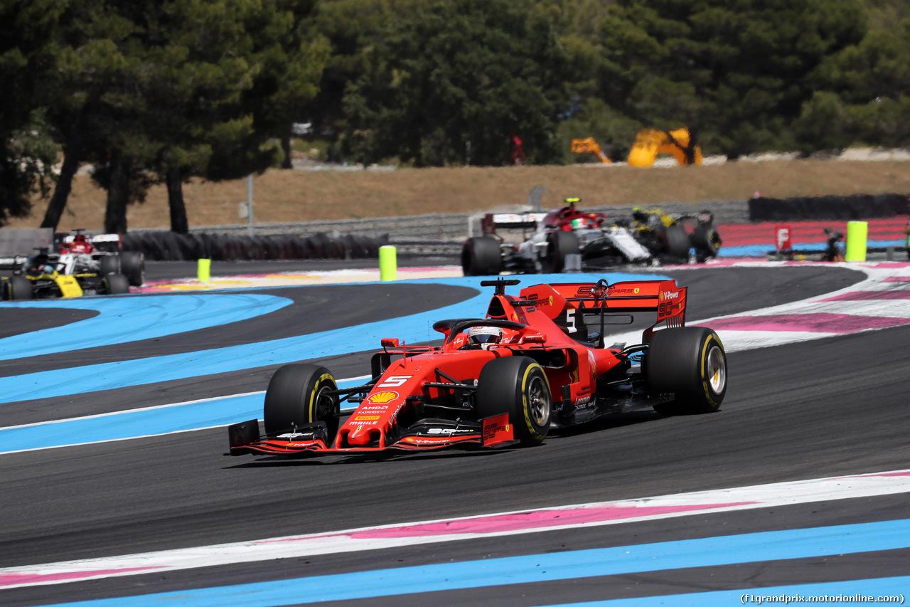 GP FRANCIA, 23.06.2019 - Gara, Sebastian Vettel (GER) Ferrari SF90