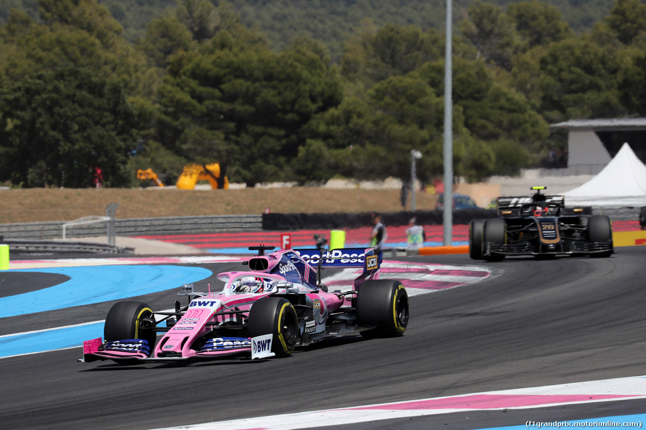 GP FRANCIA, 23.06.2019 - Gara, Sergio Perez (MEX) Racing Point F1 Team RP19