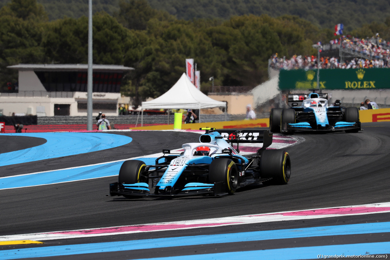 GP FRANCIA, 23.06.2019 - Gara, Robert Kubica (POL) Williams Racing FW42 davanti a George Russell (GBR) Williams Racing FW42
